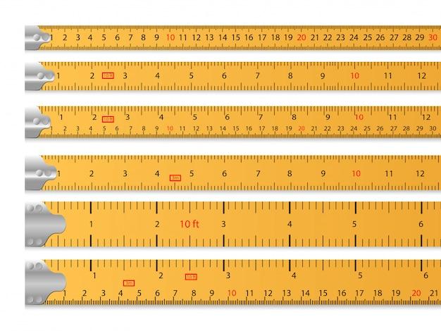 Ensemble de ruban à mesurer
