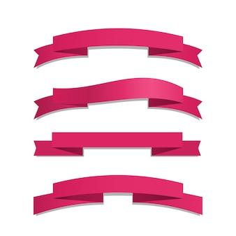 Ensemble de ruban rose
