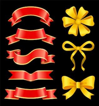 Ensemble de ruban rouge et archet