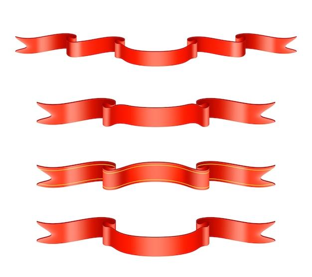 Ensemble de ruban rouge classique