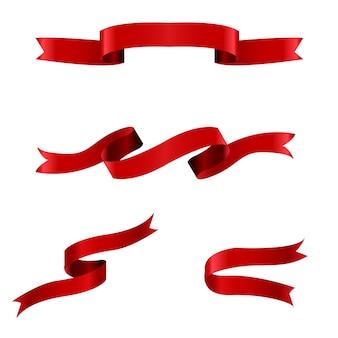 Ensemble de ruban rouge