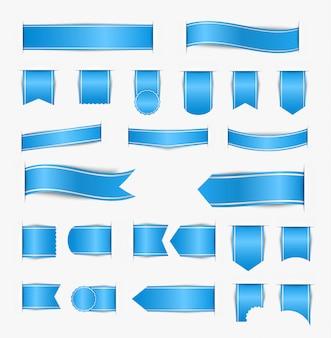 Ensemble de rubans bleus