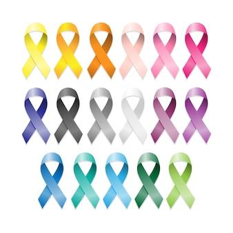 Ensemble de rubans de cancer.