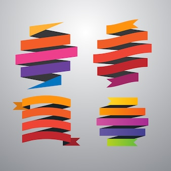 Ensemble de rubans colorés