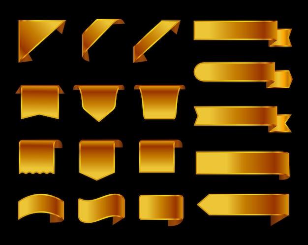Ensemble de rubans dorés