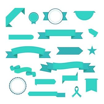 Ensemble de rubans. icônes modernes dans des couleurs élégantes. icônes pour application web et mobile. isolé.