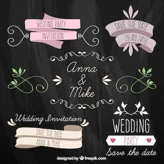 Ensemble de rubans de mariage de cru