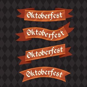 Ensemble de rubans oktoberfest