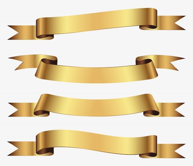 Ensemble de rubans d'or