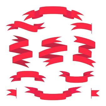 Ensemble de rubans rouges