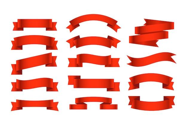Ensemble de rubans de style rétro différents. prêt pour un texte