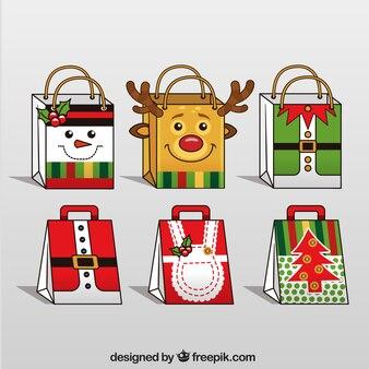 Ensemble de sacs-cadeaux de noël