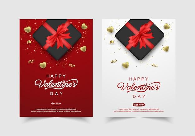 Ensemble de saint valentin avec des cadeaux