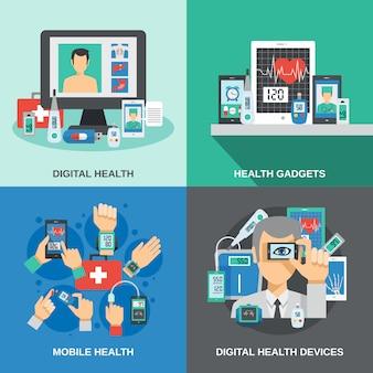 Ensemble de santé numérique