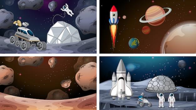 Ensemble de scènes de l'espace