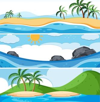 Ensemble de scènes d'océan