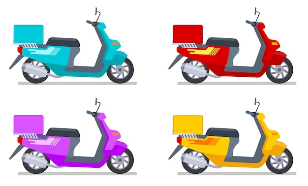 Ensemble de scooters de couleur
