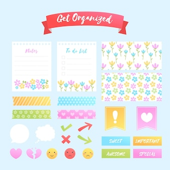 Ensemble de scrapbooking planificateur