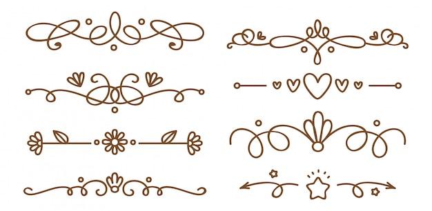 Ensemble de séparateurs décoratifs swirly