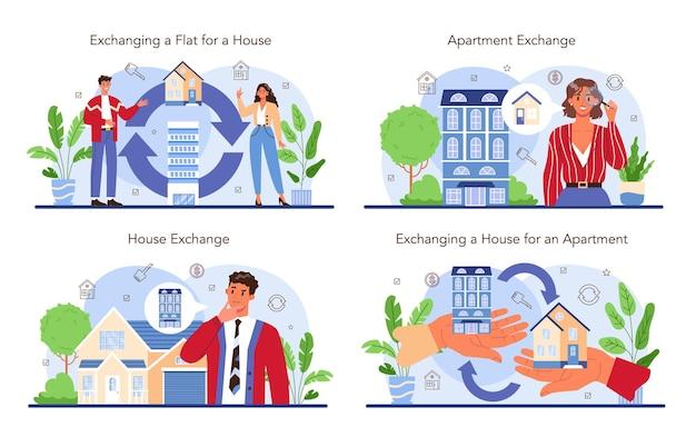 Ensemble de services d'agence immobilière. service d'agent immobilier ou de courtier qualifié.