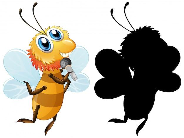 Ensemble de silhouette d'abeille