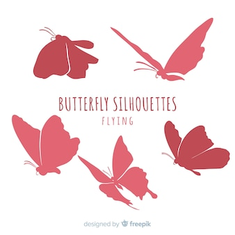 Ensemble silhouette papillon