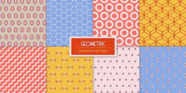 Ensemble simple de huit motifs géométriques sans soudure