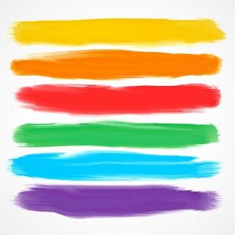 Ensemble de six pinceaux aquarelle différentes