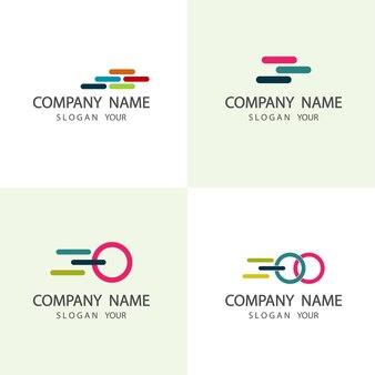 Ensemble de société de logo abstrait