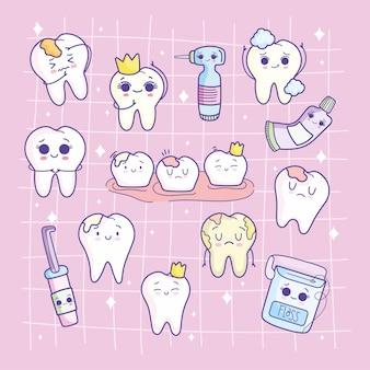 Ensemble de soins dentaires
