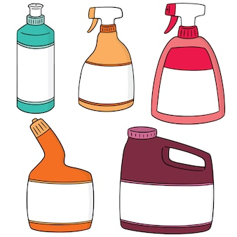 Ensemble de solution de nettoyage de salle de bain