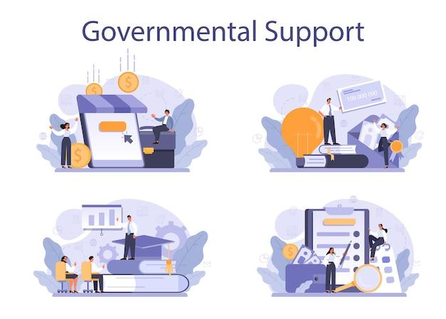 Ensemble de soutien gouvernemental