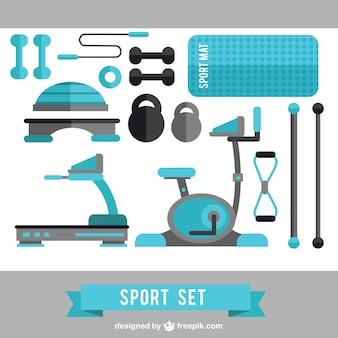 Ensemble sport bleu
