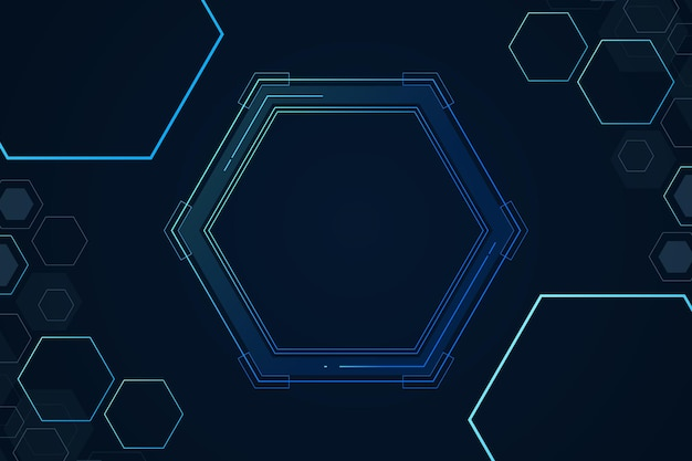 Ensemble de structure de cellules hexagonales de la chimie résumé de fond illustration vectorielle de minimalisme futuriste numérique