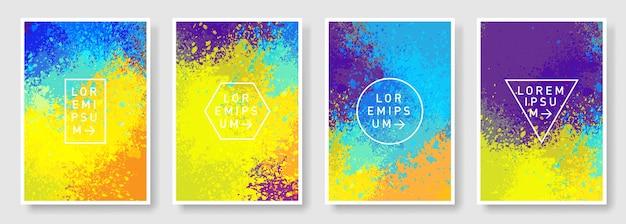 Ensemble de style moderne abstrait coloré