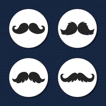 Ensemble de styles de moustache