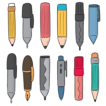 Ensemble de stylo et crayon
