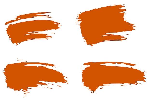 Ensemble de sublimation grunge pinceau grunge orange