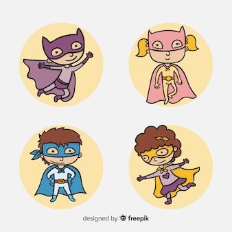 Ensemble de super-héros drôles
