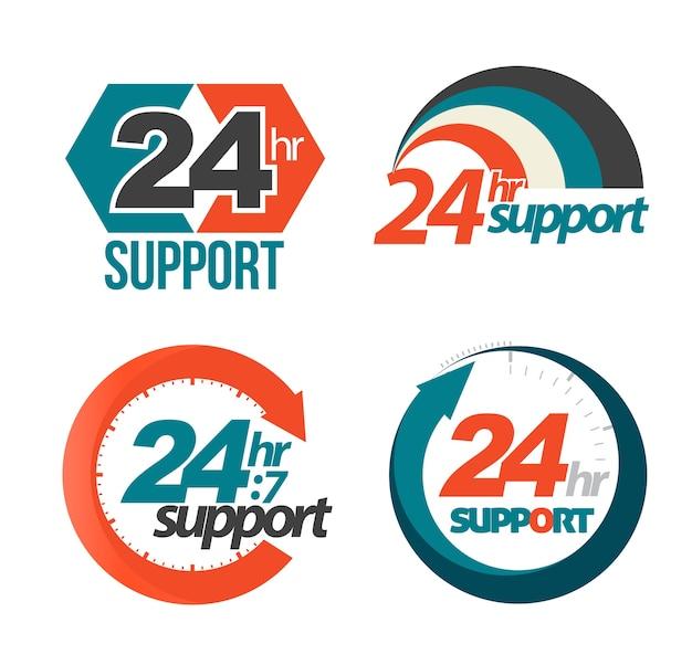 Ensemble de support 24 heures sur 24