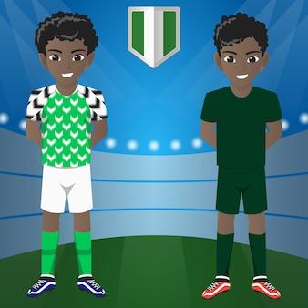Ensemble de supporter de football / football / fans de l'équipe nationale de nigeria