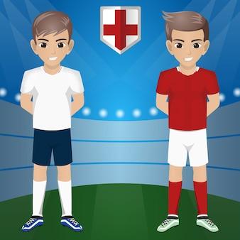 Ensemble de supporter football / football supporter / fans de l'équipe nationale angleterre