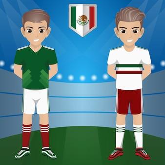 Ensemble de supporters de football / football / fans de l'équipe nationale mexico