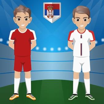 Ensemble de supporters / supporters de football / football de l'équipe nationale serbia