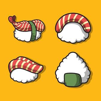 Ensemble de sushi. nourriture japonaise.