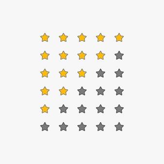 Ensemble de symboles de classement par étoiles