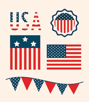 Ensemble de symboles des états-unis