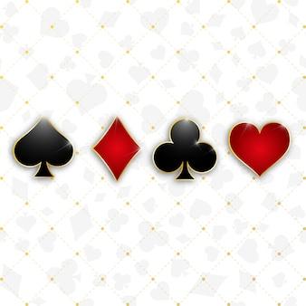 Ensemble de symboles jeu de cartes
