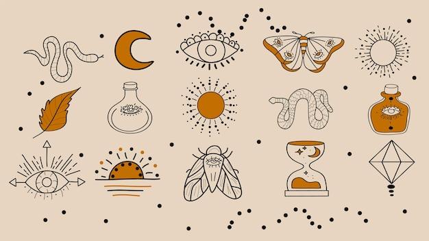 Ensemble de symboles magiques