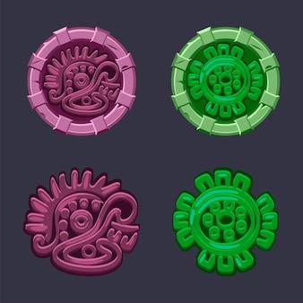 Ensemble de symboles mayas aztèques